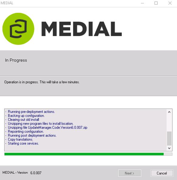 MEDIAL v5 to v6 Upgrade